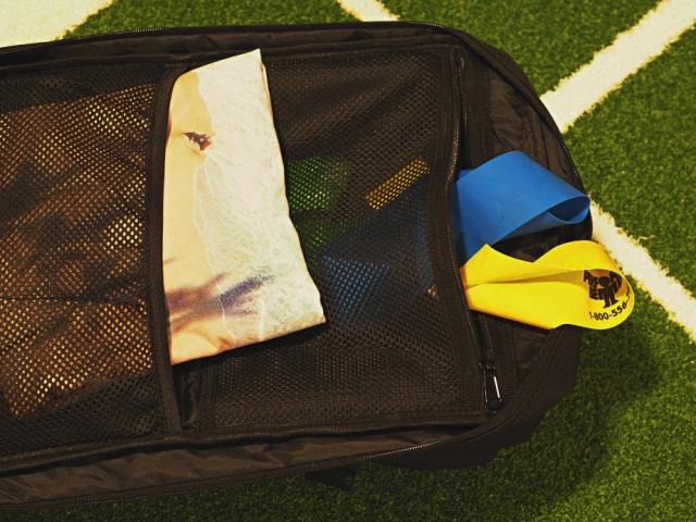 Sportrucksack mit Bändern