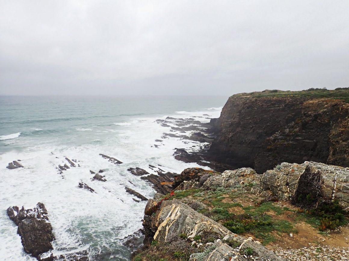 Portugal Küste Sturm